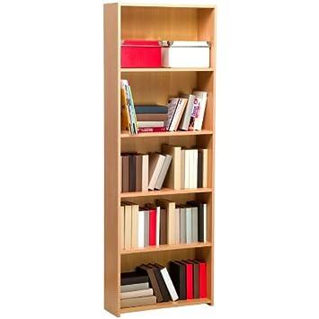 Libreria mobile in kit legno modulare regolabile alta faggio LB1629 ...