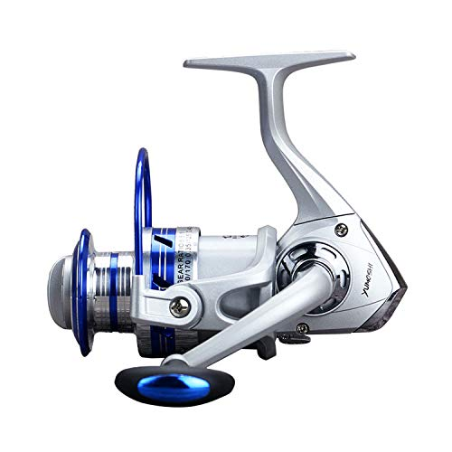 Fashion-Lover Fishing Reel Spinning Reel Metal Spool Ratio 5.5:1 Spining Reel Metal Head Brass Carp Saltwater Wheel Metal Coil,12,2000 Series