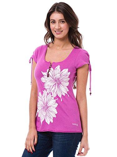 T-shirt Animal Amberlynn avec motif pour femme en framboise
