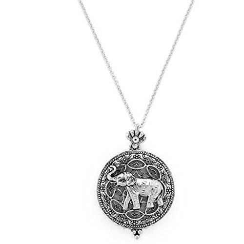 [Magnifying Glass Pendant Necklace Silver (Elephant Silver)] (Elephant Magnifier)