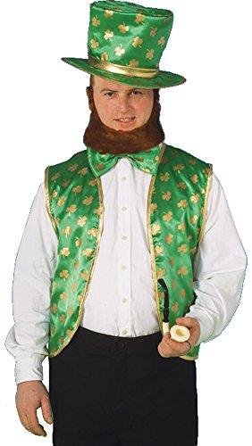 Forum St. Patrick's Day Leprechaun Costume Kit, Green/Gold, One Size (St Patricks Day Vest)