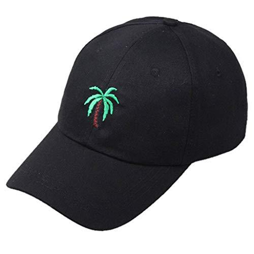 - Women Men Tree Embroidered Sun Hat Unisex Summer Outdoors Tree Visor Baseball Cap Adjustable Beach Hat Black