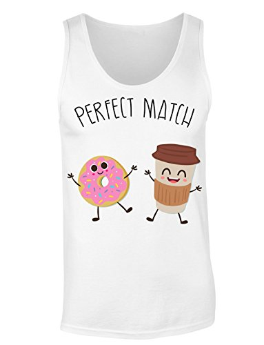 Perfect Match Cup Of Coffee And Donut T-shirt senza maniche per Donne Shirt