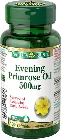 Nature's Bounty Evening Primrose Oil 500mg, 100 softgels (packaging may vary)