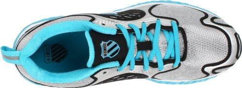19545ddf5008a K-Swiss Women's Blade Max Glide Running Shoe,Silver/Black/Fiji Blue ...