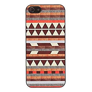 HP Brown Triangles Pattern Smooth Hard Case for iPhone 5/5S(Pink)