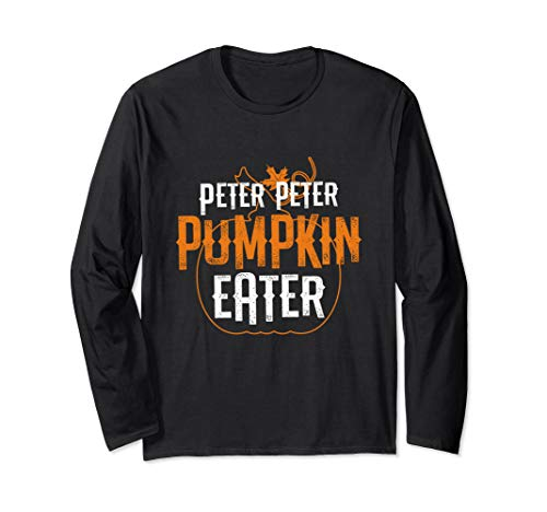 Creative Halloween Costumes For Couples 2019 (Peter Peter Pumpkin Eater Matching Couples Halloween Costume Long Sleeve)