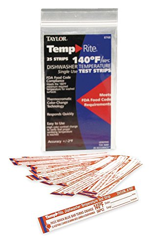 Taylor Dishwasher Test Strip, 25 Pack by Taylor