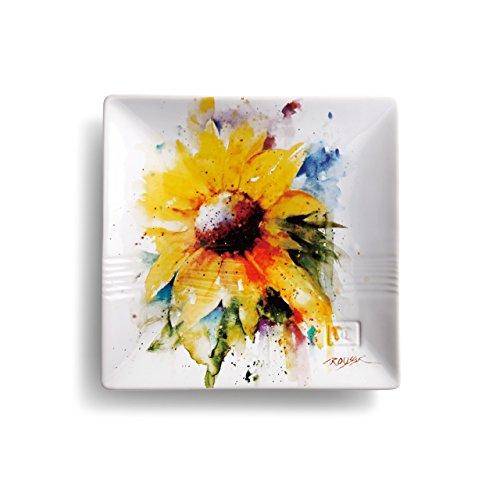 Demdaco 3005050988 Big Sky Carvers Sunflower Snack Plate, Multicolored