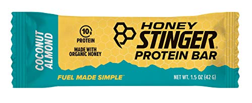 Honey Stinger Protein Bar, Dark Chocolate Coconut Almond, Sports Nutrition, 1.5 Ounce (Pack of 15)