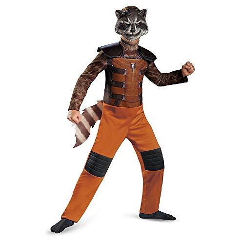Disguise Marvel Guardians of The Galaxy Rocket Raccoon Classic Boys Costume, Medium/7-8