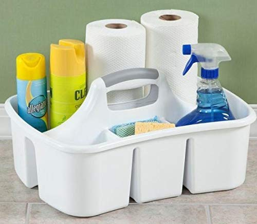 Bath Kitchen Divided Compartment Caddy Storage Sink Organizer Janitors Bucket Soap Cleaning Brush Sponge Bottle Holder Shower Basket Supplies Cabinet Container - 17 3/4'' L x 13 1/4'' W x 8 by LavoHome (Image #5)