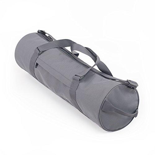 Sac de yoga ASANA CITY BAG en polyester/polyamide, avec bandoulière et sangle pour porter à la main, disponible en différentes couleurs (gris ardoise)