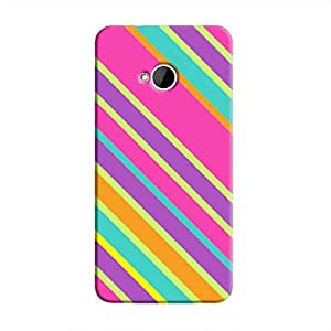 Cover it up Pop Pink Print HTC One M7 Hard Case