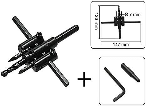 120mm Lochschneider Rundschneider Gipskarton Kreisschneider verstellbar 30mm
