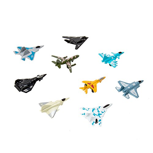 Air Force Plane Toys Set, 9 Piece Die Cast Metal Fighter Jet Model Military Themed Airplane Sets for Kids Toy Fighter Aircraft Collections