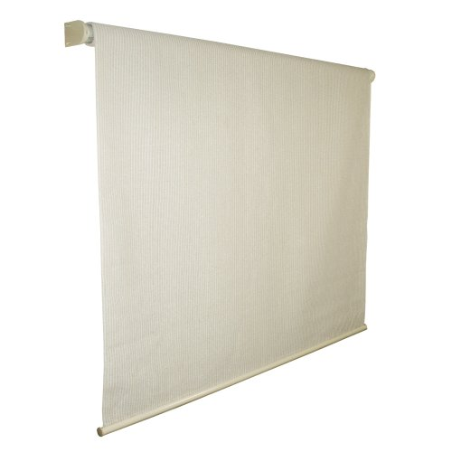 Coolaroo Outdoor Shade - Coolaroo 462161 Easy Release Cordless Exterior Roller Shade with 95% UV Protection and Full Valance, (4' W X 8' L), Pebble