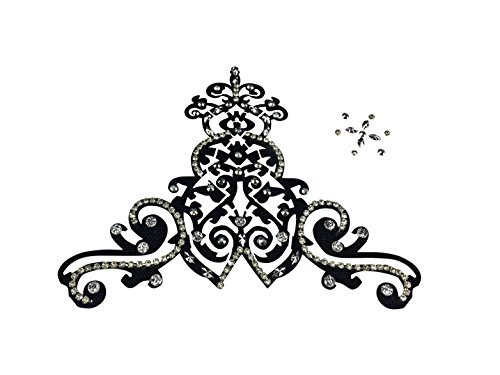 Filigree Rhinestone Body Jewelry w Self Adhesive Crystal Gem Stones Temporary Costume Tattoo Sticker Stylish Bindi Art (Best Way To Apply Temporary Tattoos)