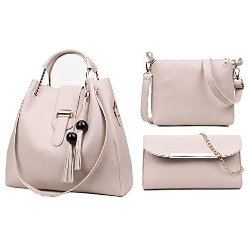 Clutch Leather Fashion Bag Set PU Purpose amp; Set Makeup White Multi Bag Shoulder Bag Hand Durable Crossbody Bag Hand Bag Lightweight Casual 3Pcs FLO Women Design AvqF0