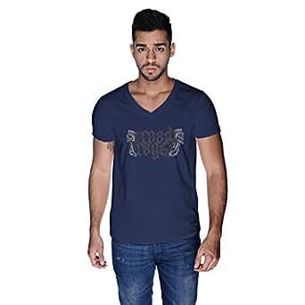 Creo Road Rage Bikers T-Shirt For Men - L, Navy Blue