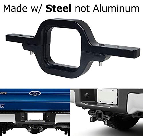 iJDMTOY Tow Hitch Mounting Bracket for Dual LED Backup Reverse Lights/Rear Search Lighting/Off-Road Work Lamps for Truck SUV Trailer RV, etc