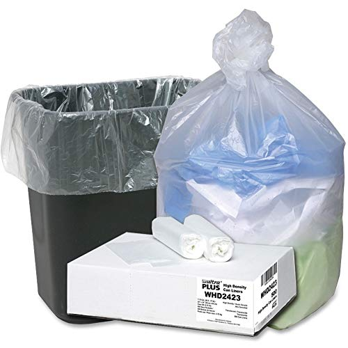 Webster WBIWHD2423 Ultra Plus High Density Resin Industrial Trash Can Liner, 10 gal, 24