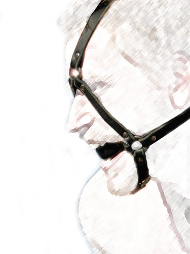 Ball Gag - Extreme Style ~ Submissive Quiet Hard Black Ball , Black Full Head Harness Bondage for Fetish Sex Love Games Unisex Sm 047 by Unknown