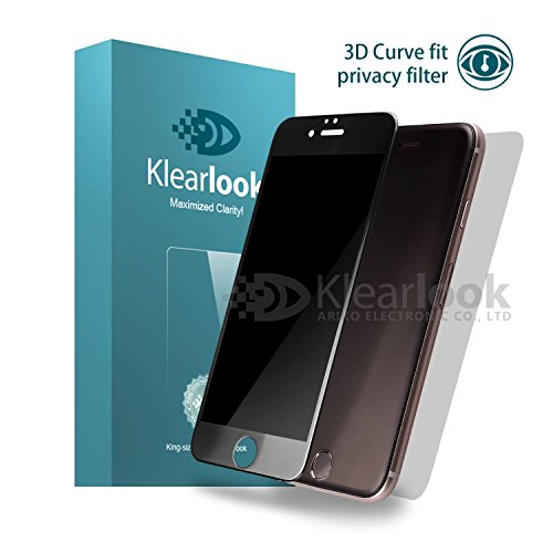 Klearlook Privacy Glass Screen Protector Compatible with iPhone 6 Plus / 6s Plus, Front Anti Spy Filter 3D Full Coverage Tempered Glass Protector and Back Matte PET Protector for iPhone 6 6S Plus