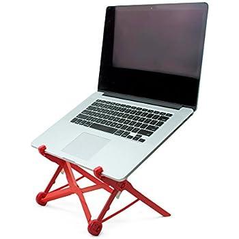 NOMAS Red Foldable Laptop Stand built with Nylon Fiberglass for Travel | Durable, Lightweight & Foldable Design | Adjustable Height For MacBook, Laptops, Desktop Use, Business, Travelers, DJs