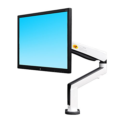 North Bayou Monitor Desk Mount Stand Full Motion Swivel Monitor Arm for 22''-32'' Computer Monitor with Tension Spring (white)