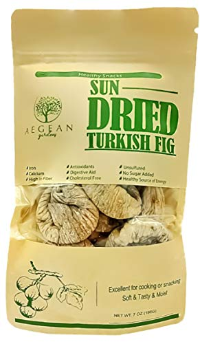 Sun Dried Turkish Figs / Pack of 6 / 7 oz Each - Dried Healthy Fruit Snacks ()