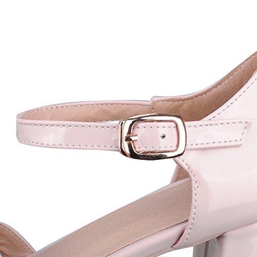 MJS03597 Sandales 1TO9 Inconnu Compensées Femme Rose 5qpwHn