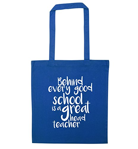 teacher school tote great Blue Behind every good bag a head is ZFFgP0
