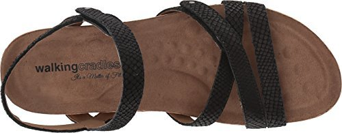 Walking Cradles Women's Pool Black Matte Snake Print/Cork Wrap 9 N US by Walking Cradles