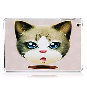 Conseguir Cabeza del patrón del gato de plástico de nuevo caso para el mini iPad