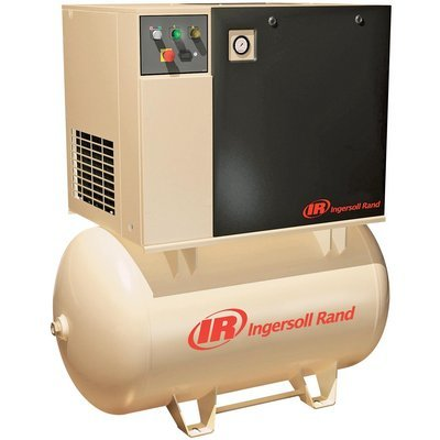 - Ingersoll Rand Rotary Screw Compressor - 230 Volts, 3 Phase, 15 HP, 55 CFM, Model# UP6-15c-125