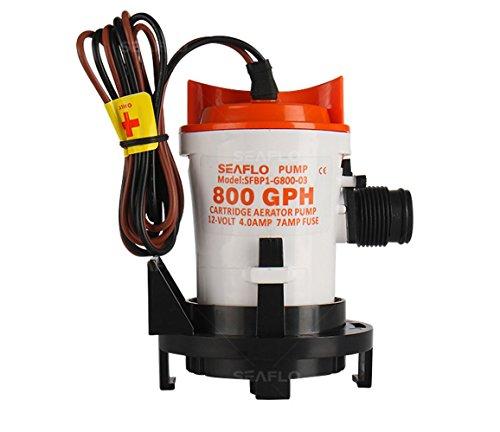- Seaflo 12v 800GPH Bilge Pump w/ Side Mounting Strainer Base