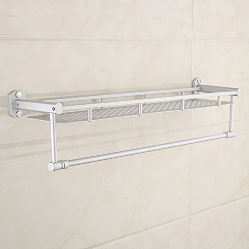 Aluminum Alloy 50cm Space Double Holder Towel Rails - 9