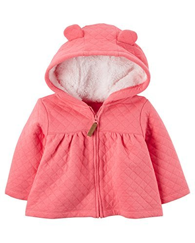 Carter's Baby Girls' 3M-24M Hooded Quilted Jacket 6 Months by Carter's