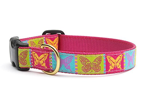 """Butterfly Dog Collar with Quick Release Buckle - X-Small (6""""-12"""") Width 5/8 In"""