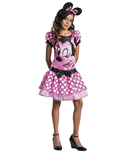 [Disney Girls Minnie Mouse Halloween Costume Disguise L] (Primrose Halloween Costume)