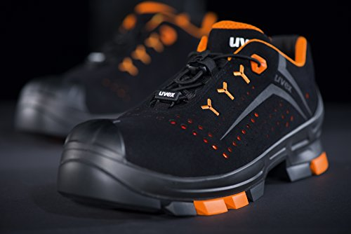 42 e Scarpe Antinfortunistiche Nero per Sneaker S1 Scarpe da Colore Lavoro Style 2 6501 Donna Uvex Puntale SRC Perforate P con Uomo di Taglia Sicurezza 4ZPfAwqS