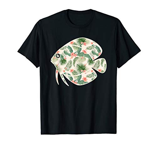 - Discus Flower Girl Print Floral Fish Hawaiian Women Gift T-Shirt