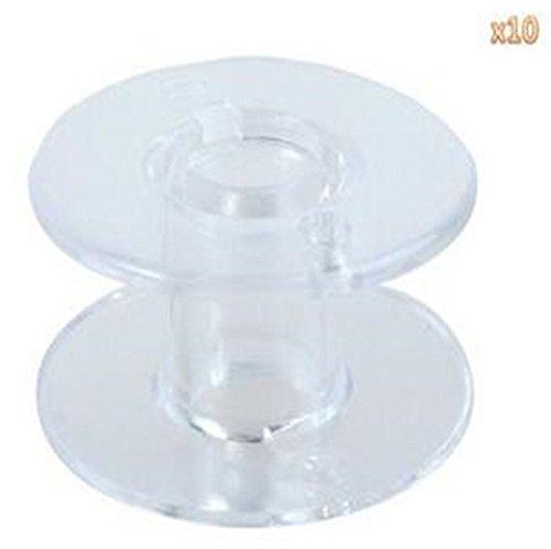 homiki 10x Lattine di chiaro plastica interno macchina da cucire/Bobine di filo plastiche trasparenti PG