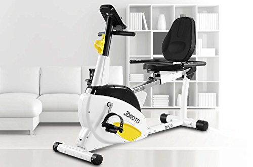 Smart Indoor Recumbent Exercise Bike - JOROTO Cardio Fitness Cycling Machine Home Stationary Trainer with Pulse JOROTO