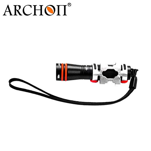 ARCHON W1A D1A Mini Dive Flashlight CREE XP-E R3 LED max 75 lumen diving torch underwater 100 meter waterproof diving light (Black) by ARCHON (Image #2)