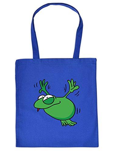 FROSCH -Tote Bag Henkeltasche Beutel mit Aufdruck. Tragetasche, Must-have, Stofftasche. Geschenkidee