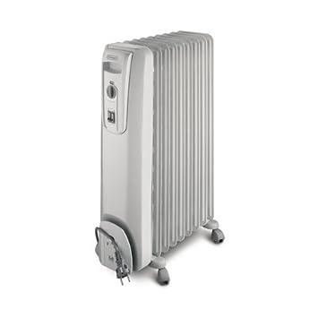 DeLonghi KH770925 - Radiador de aceite, 9 elementos, 2500 W, color blanco: Amazon.es: Hogar