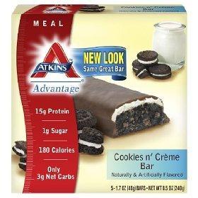 Atk Adv 5pk Cookies & Cre Size 9.0z Atkins Advantage 5pk Cookies & Cream 9oz