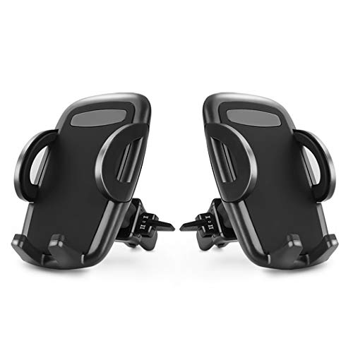 Car Phone Mount, Loncaster 2-Pack Universal Air Vent Phone Holder for Car with Adjustable Car Phone Holder Cradle for iPhone Xs Max/XS/XR/X/8/8Plus/7/7Plus/6s/6Plus/5S, Galaxy S6/S7/S8/S9 and More,aa5